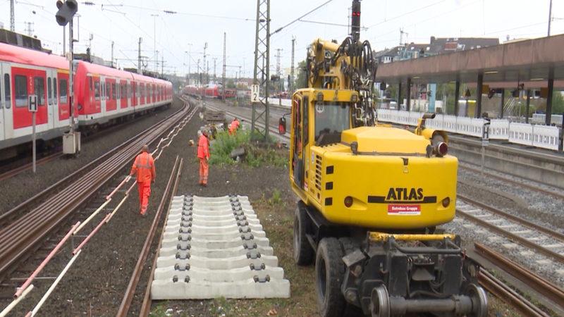 Bahnhof wird Baustelle (Foto: SAT.1 NRW)