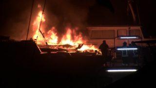 Millionenschaden: Yacht angezündet (Foto: NonStopNews)