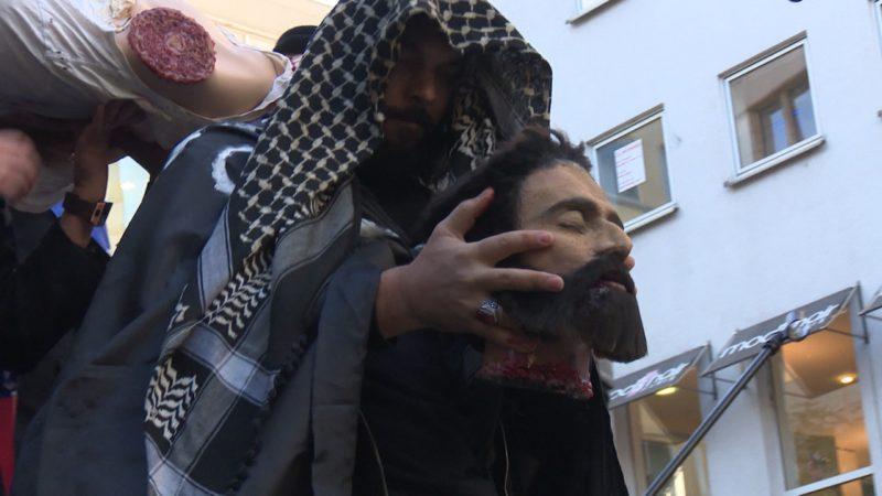 IS-Hinrichtung mitten in Essen (Foto: SAT.1 NRW)