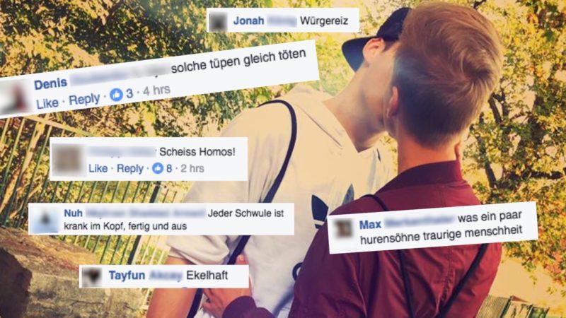 Hass gegen schwules Paar (Foto: Facebook)