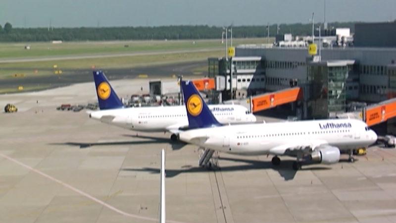 Lufthansa-Piloten streiken (Foto: SAT.1 NRW)