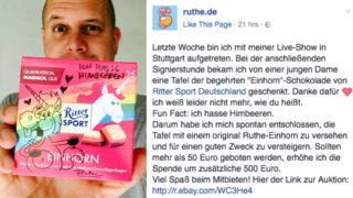 Fast 12.000 Euro für Schokolade (Foto: Facebook)