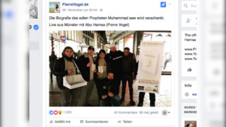 Trotz Verbot: Koranverteilung (Foto: Facebook)