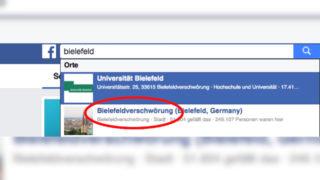 Bielefeldverschwörung (Foto: Facebook)