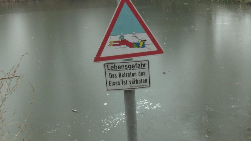 Auf dünnem Eis (Foto: SAT.1 NRW)