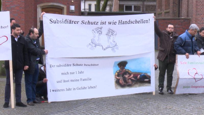 Flüchtling klagt für Asyl-Anerkennung (Foto: SAT.1 NRW)