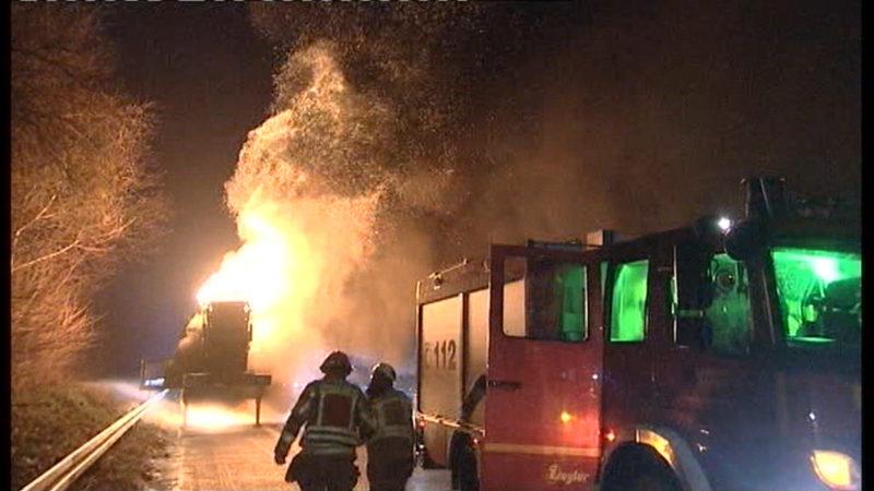 Flammeninferno auf A57 (Foto: SAT.1 NRW)