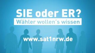 SIE oder ER? – Wähler wollen's wissen. (Foto: SAT.1 NRW)