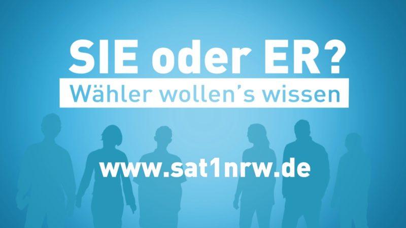 SIE oder ER? - Wähler wollen's wissen. (Foto: SAT.1 NRW)