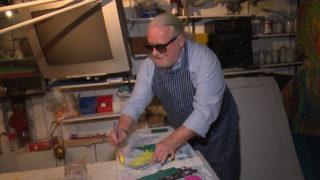 Bilder eines blinden Malers (Foto: SAT.1 NRW)