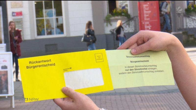 Kurioser Stimmzettel (Foto: SAT.1 NRW)
