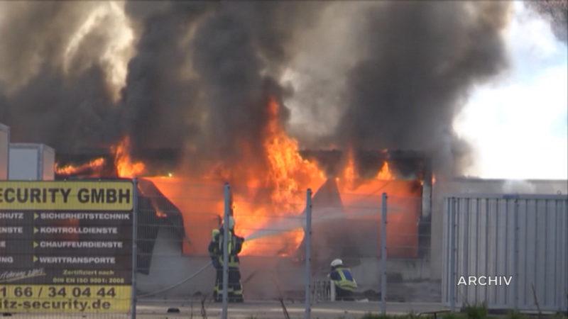 Anzeigen wegen Feuer in Flüchtlingsheim (Foto: SAT.1 NRW)
