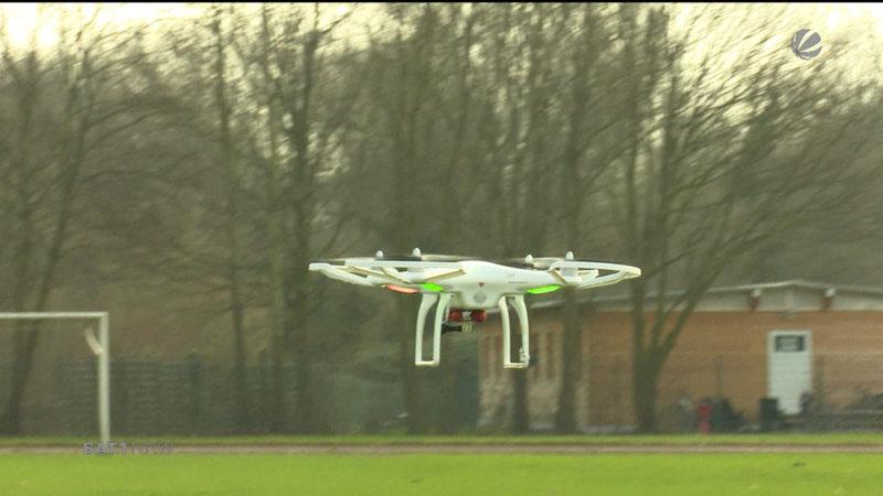 Drohne gegen Gänse (Foto: SAT.1 NRW)