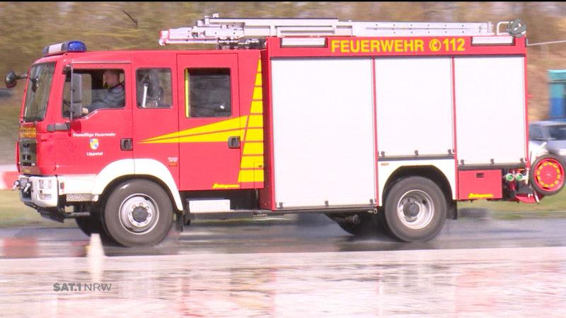 Fahrsicherheitstraining für die Feuerwehr (Foto: SAT.1 NRW)