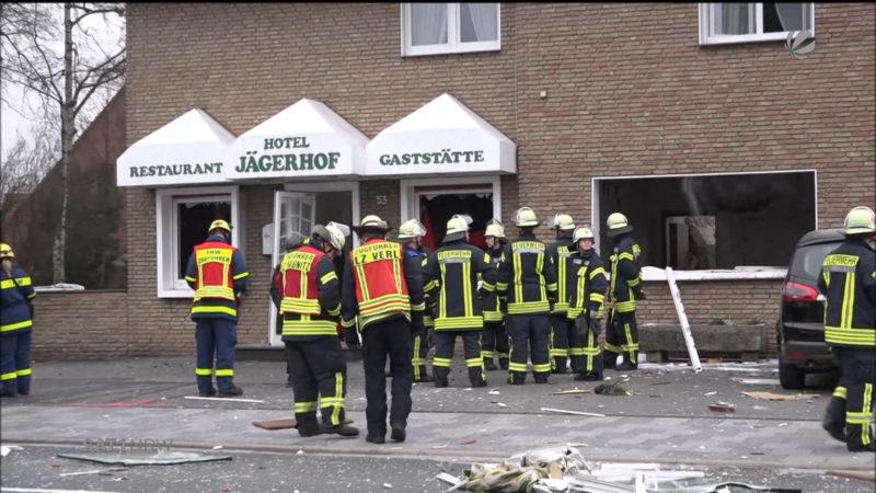 Explosion in Verl (Foto: SAT.1 NRW)