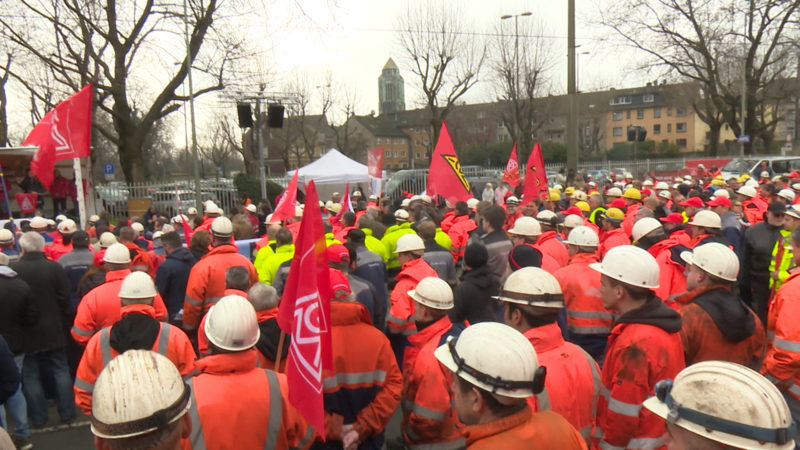 IG Metall Streik (Foto: SAT.1 NRW)