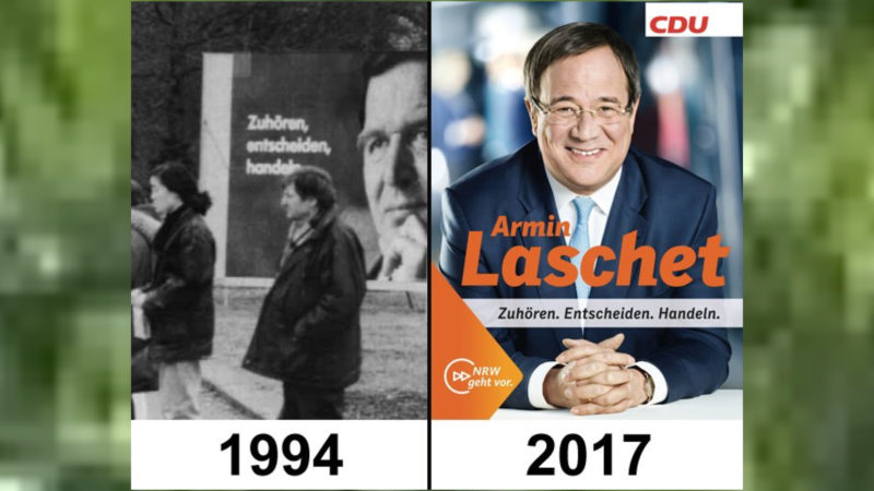 Abgekupferte Wahlplakate (Foto: twitter.com/Bernd Schmidt)