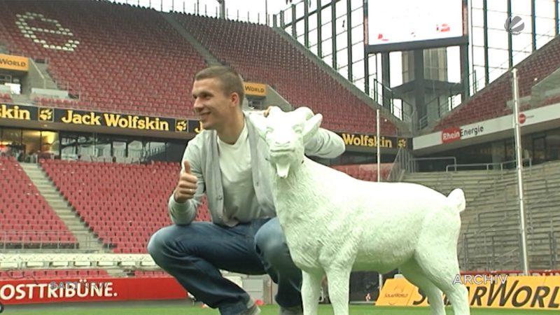 Podolski wechselt zu Kobe (Foto: SAT.1 NRW)
