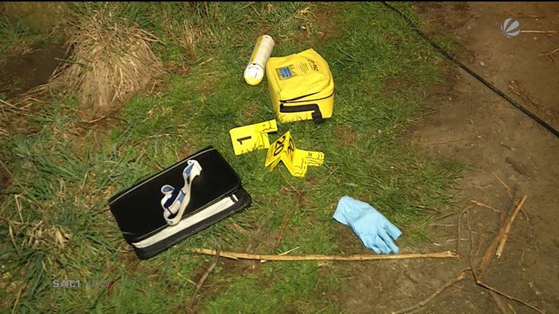 Ermittlungen im Fall eines geflüchteten Radfahrers (Foto: SAT.1 NRW)
