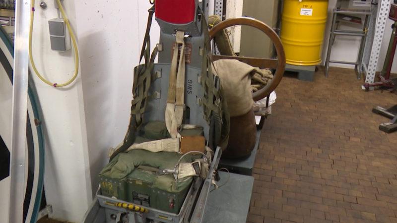 Schleudersitz aus einem Starfighter. (Foto: SAT.1 NRW)