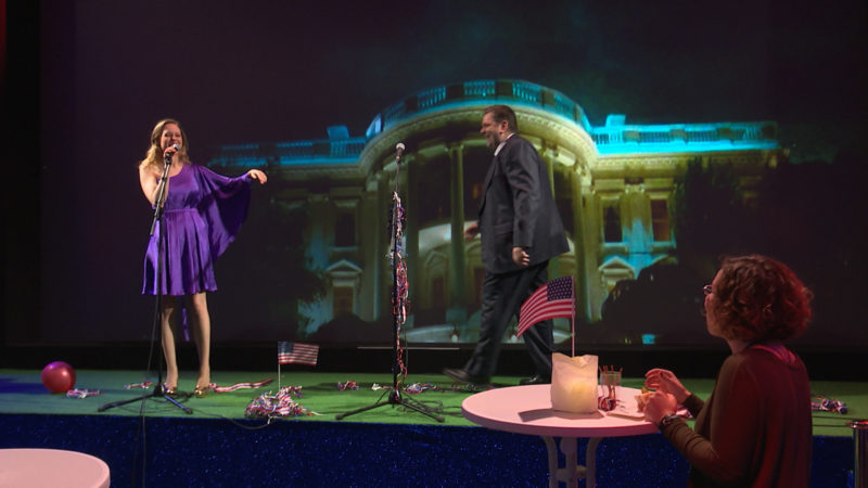Trump-Theater (Foto: SAT.1 NRW)