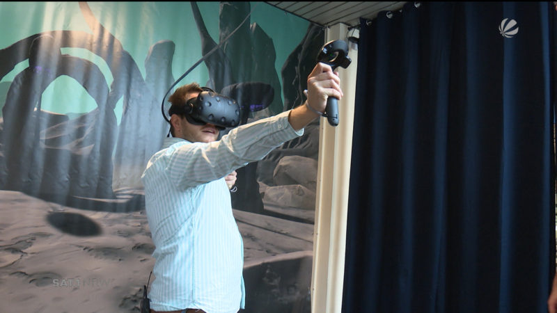 Virtual Reality Sportpark (Foto: SAT.1 NRW)