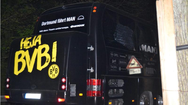 Anschlag auf BVB-Bus nachgestellt (Foto: SAT.1 NRW)