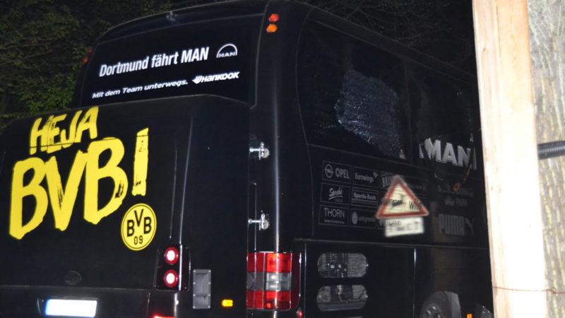 Anschlag auf den BVB-Bus (Foto: SAT.1 NRW)