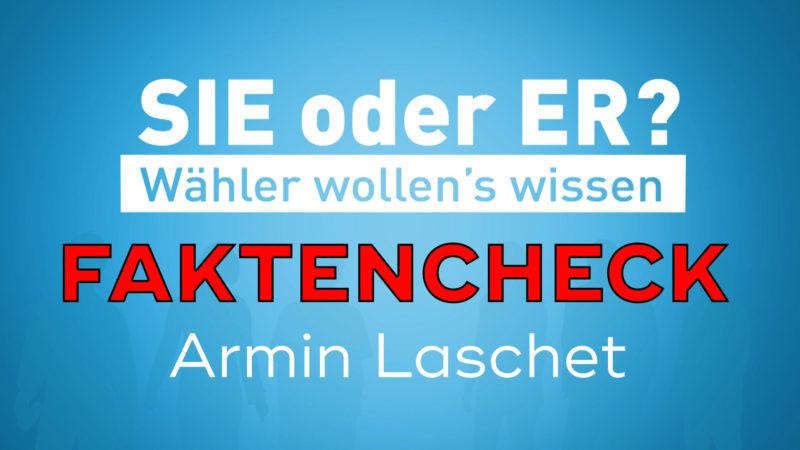 Faktencheck Armin Laschet (Foto: SAT.1 NRW)