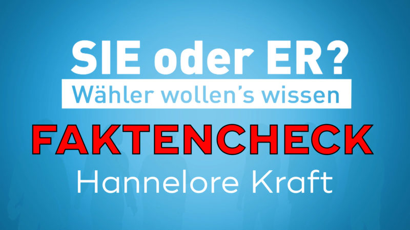 Faktencheck Hannelore Kraft (Foto: SAT.1 NRW)