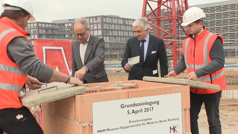 Anbau für das Museum Küppersmühle (Foto: SAT.1 NRW)