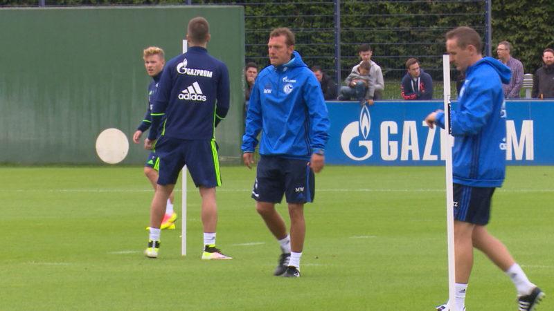 Schalke vor dem Spiel gegen Bremen (Foto: SAT.1 NRW)