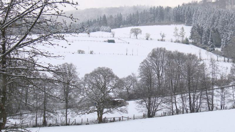 Schneetreiben in NRW (Foto: SAT.1 NRW)
