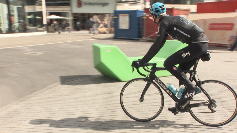 Trainingsfahrt für Tour de France in Düsseldorf (Foto: SAT.1 NRW)