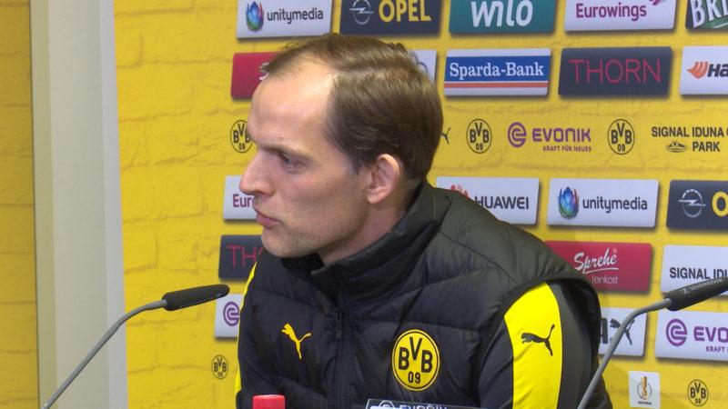 Pressekonferenz BVB vorm Pokal-Halbfinale (Foto: SAT.1 NRW)