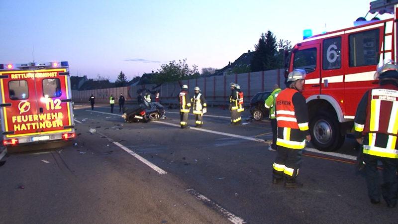 Unfall auf der A44 (Foto: SAT.1 NRW)
