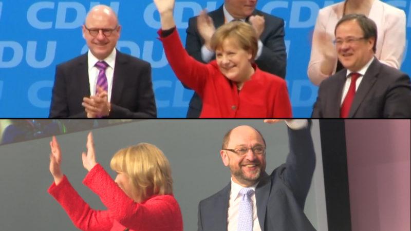Wahlkampfauftakt von CDU und SPD (Foto: SAT.1 NRW)