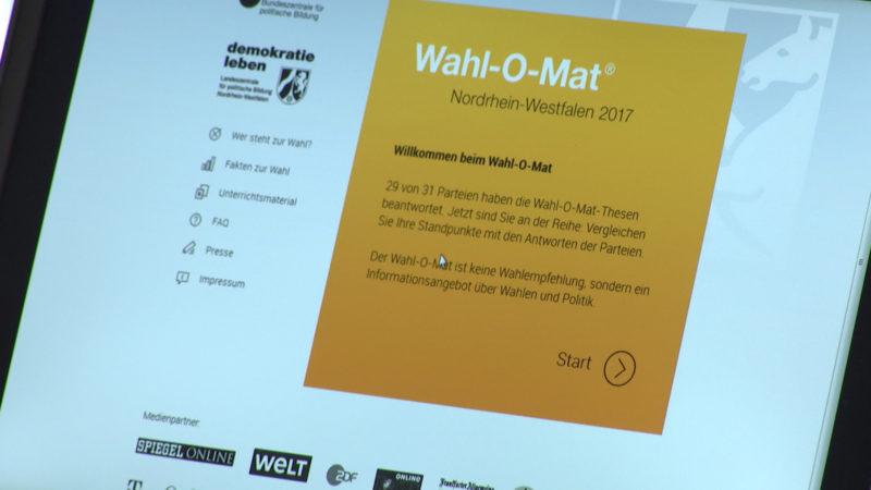 Wahl-O-Mat gestartet (Foto: SAT.1 NRW)