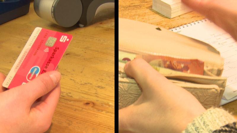 Bar zahlen oder mit der EC-Karte? (Foto: SAT.1 NRW)