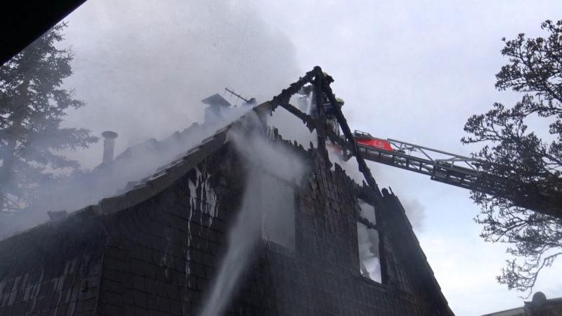 Großbrand in Bergisch Gladbach (Foto: SAT.1 NRW)