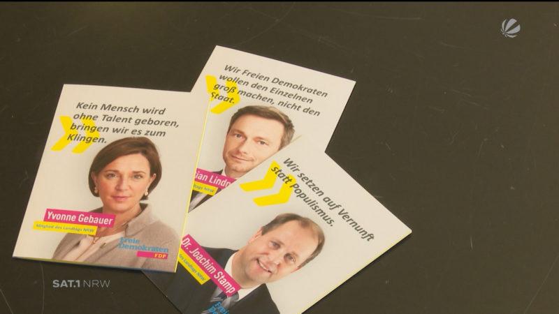Die Gesichter der FDP (Foto: SAT.1 NRW)