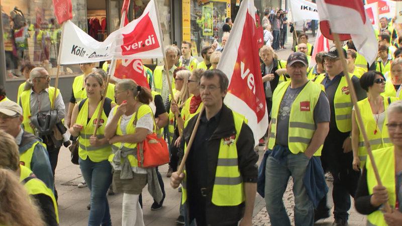 Einzelhandel-Protest (Foto: SAT.1 NRW)