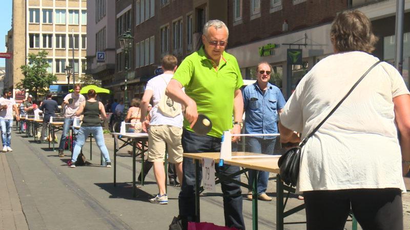 Düsseldorf im Tischtennis-Fieber (Foto: SAT.1 NRW)