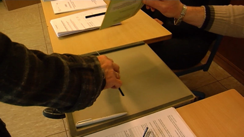 Korrektur des Wahlergebnisses (Foto: SAT.1 NRW)