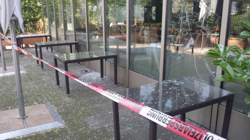 Restaurant nach AfD-Stammtisch zerstört (Foto: SAT.1 NRW)