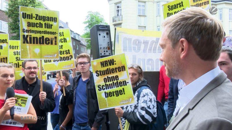 Landesregierung zu Studiengebühren in NRW (Foto: SAT.1 NRW)