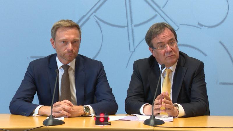 Finanzierung der neuen Landesregierung (Foto: SAT.1 NRW)