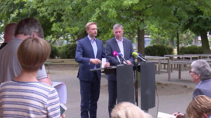 Koalitionsverhandlungen in Düsseldorf (Foto: SAT.1 NRW)