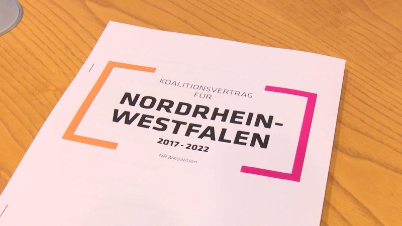 CDU und FDP präsentieren Koalitionsvertrag (Foto: SAT.1 NRW)