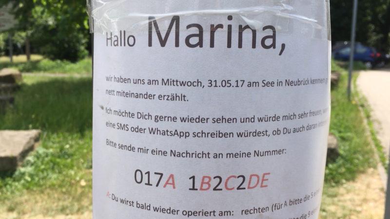 Kreative Suchanzeige nach der Herzdame (Foto: SAT.1 NRW)